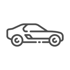 Outline drawing of a car