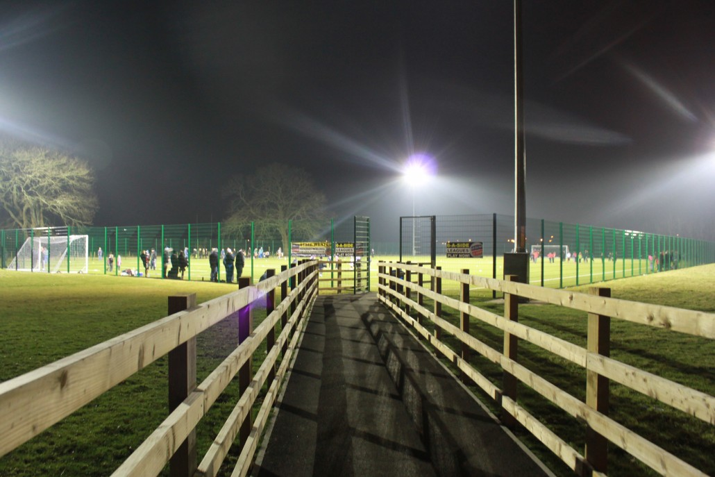 View of our 3G pitch at night