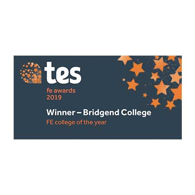 Bridgend College winner of FE college of the year category