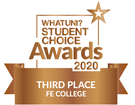 Logo for What Uni Student choice awards 2020 third place
