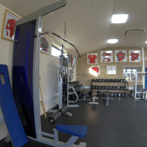 Sports gym at our Pencoed Campus