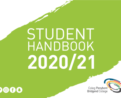 Cover of the Student Handbook for 2020 to 2021
